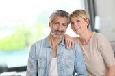 Mature couple in home — Stock Photo