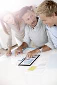 People working on business plan — Stock Photo