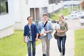 Young students walking — Stock Photo