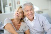 Senior couple enjoying retirement — Stock Photo