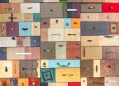 Various little colorful drawers — Stock Photo