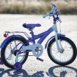 Small kids bike with training wheels outdoors. — ストック写真 #53867865