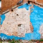 Demolished building - bricks and stucco texture. — Stock Photo #58408103