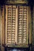 Old wooden closed window texture. — Stock Photo