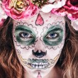 Portrait of woman with scary halloween makeup. — Stock Photo #60302017