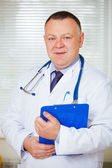 Portrait of Doctor with stethoscope looking at the camera. — Stock Photo