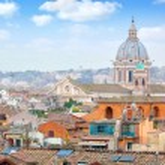 Rome Panoramic view from Viale Della Trinita dei Monti. — Stock Photo #65236599