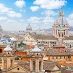 Rome Panoramic view from Viale Della Trinita dei Monti. — Stock Photo #65236685