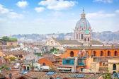 Rome Panoramic view from Viale Della Trinita dei Monti. — Stock Photo