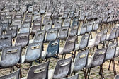 Group of old empty chairs. — Stock Photo