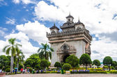 Patuxai Gate in Vientiane. — Stock Photo