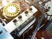 Mechanical part of Porsche automobile — Stock Photo