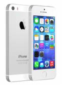 Silver iPhone 5s — Stock Photo