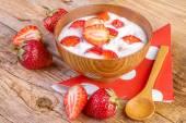 Strawberry yoghurt — Stock Photo