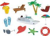Vacation at sea — Stock Vector