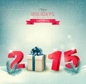 Happy new year 2015! New year design template Vector illustratio — Vector de stock