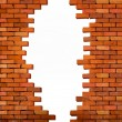 Vintage brick wall background with hole. Vector — Stock Vector #56769233