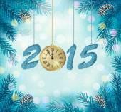Happy new year 2015! New year design template Vector illustratio — Stock Vector