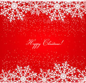 Christmas postcard with snowflakes. Vector.  — Wektor stockowy