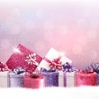 Christmas holiday background with presents. Vector. — Stockvector  #57491681