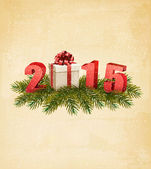 Holiday background with a present and 2015. Vector.  — Stockvektor