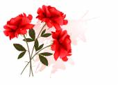 Holiday Background With Three Red Roses. Vector. — ストックベクタ