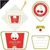 Joghurt — Stockvektor