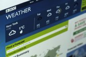 Photo of BBC Weathers homepage — Stock Photo