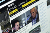 Photo of BBC Sport homepage on a monitor screen — Stock Photo
