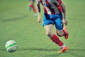 GALATI, ROMANIA - APRIL 6: Unknown football players performs dur — Stock Photo