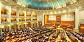 Romanian Senate interior — Stock Photo