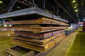 Stack of steel sheet — Stock Photo