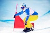 Unknown snowboarder — Stock Photo