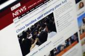 Photo of BBC homepage on a monitor screen — Stock Photo