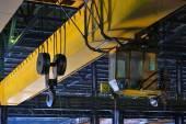 Crane gantry in steel plant — Stock Photo