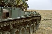 GALATI, ROMANIA - OCTOBER 8: Romanian tank TR 85M 'Bizonul' in R — Stock Photo