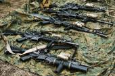 5.56 mm caliber semiautomatic  american rifles — Stock Photo