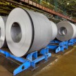 Rolls of steel sheet inside of plant, Cold rolled steel coils — Stock Photo #75892121