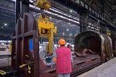 Rolls of steel sheet inside of plant — Stock Photo