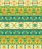 Bezešvé barevný aztécký vzor — Stock vektor