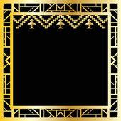 Art deco geometric frame — Stock Vector