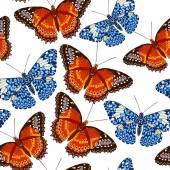 бесшовный фон из бабочек — Cтоковый вектор