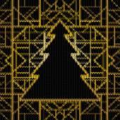 бесшовные трикотажные рождество — Cтоковый вектор