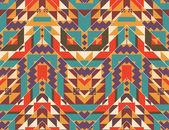 カラフルなナバホー人のシームレスなパターン — ストックベクタ