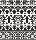 Seamless black and white navajo pattern — Cтоковый вектор