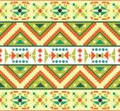 Kolorowy wzór aztec — Wektor stockowy