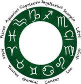 Icônes du zodiaque. — Vecteur