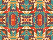 Bezešvé barevný Navahové vzor — Stock vektor