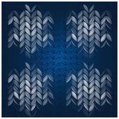 Zimní pletený vzor — Stock vektor