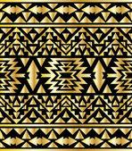 Seamless aztec pattern art deco style — Stock Vector